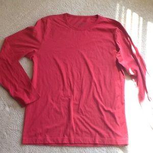theory, orange, long sleeve T shirt